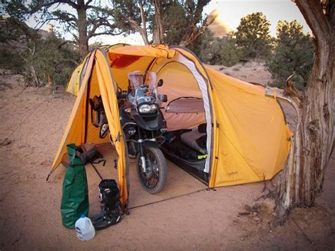 tenda moto new tent design allows you and your motorcycle to be