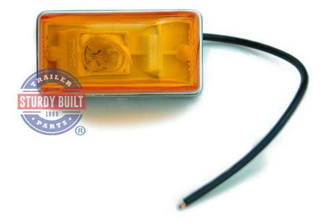 boat trailer marker lights side marker trailer light amber submersible single stud 2 1 8 quot