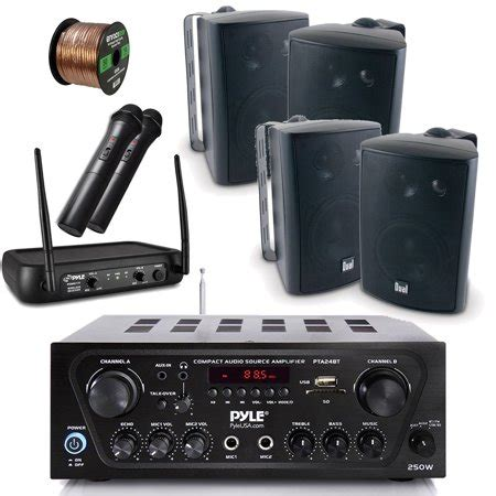 pyle wireless bluetooth stereo receiver amplifier dual