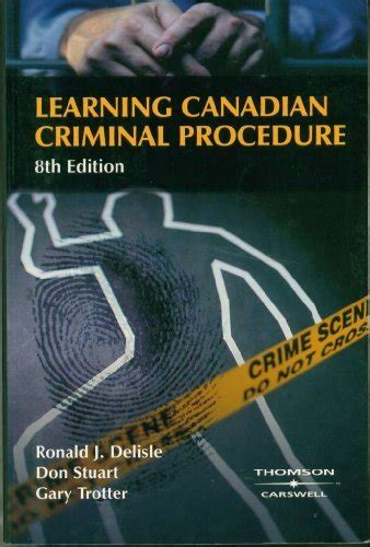 learn canadian books learning canadian criminal procedure 9780459242749