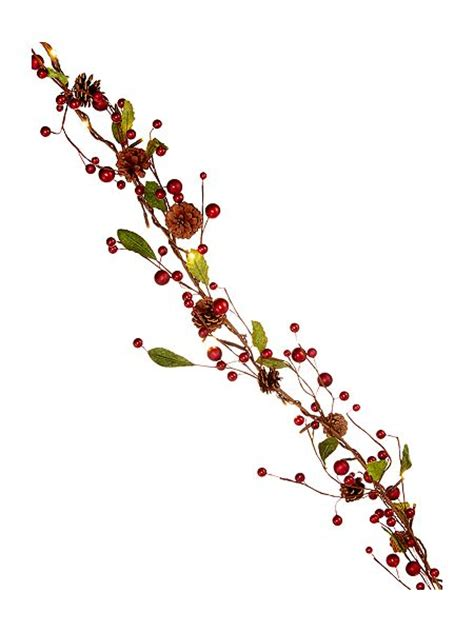 linea red berry pine cone lit garland house of fraser