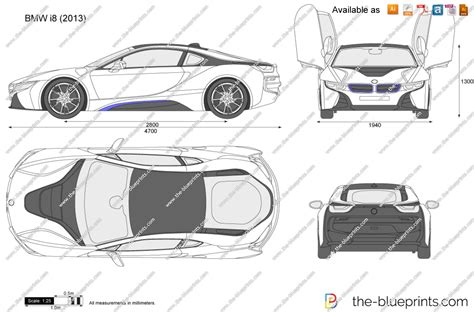 draw blueprints the blueprints vector drawing bmw i8