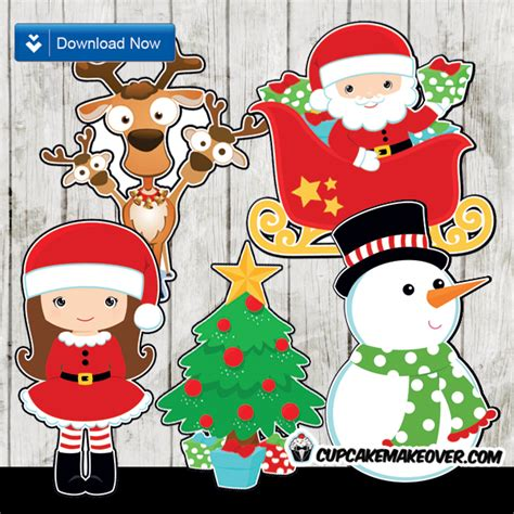 christmas centerpieces printable decorations instant