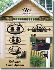 curb appeal signs welcome signs house plaques numbers letters wrought iron