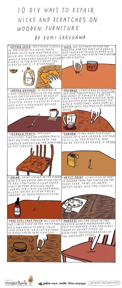 How To Fix Scratches On Wood Furniture by 10 Diy Ways To Repair Nicks Scratches On Wooden