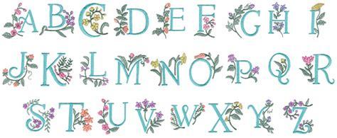 floral pattern font floral alphabet iii embroidery font annthegran