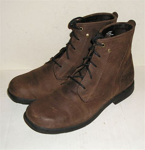 ll bean l l bean s brown nubuck leather ankle lace up boots shoes 8 5 m great boots