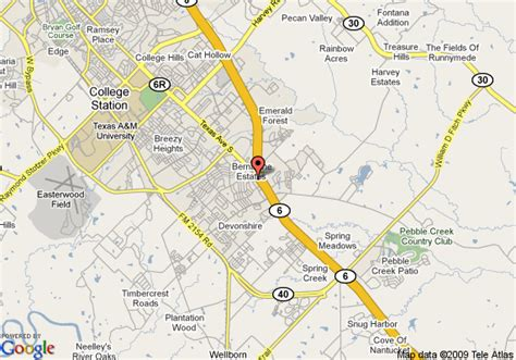 where is college station texas on a map map of quality suites college station college station