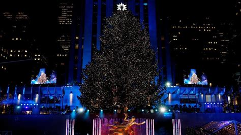 when do they light the nyc tree 240 and 50 000 lights the rockefeller center tree