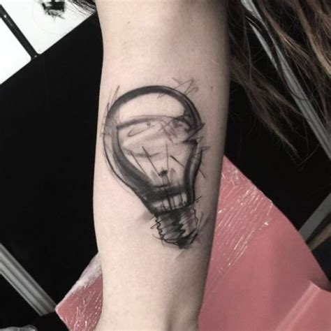markered light bulb tattoo best tattoo ideas gallery