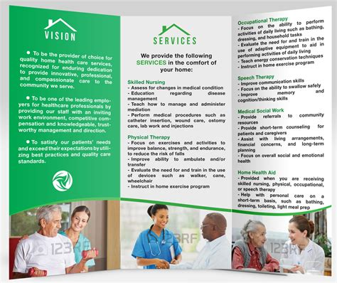 By Design Home Care Inc Traditional Brochure Design For Trio Home Health