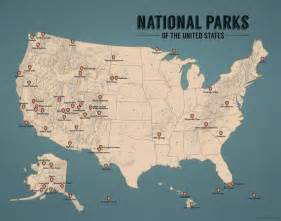 us national parks list map us national parks map 11x14 print