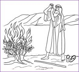 moses coloring pages print version moses and burning bush coloring page