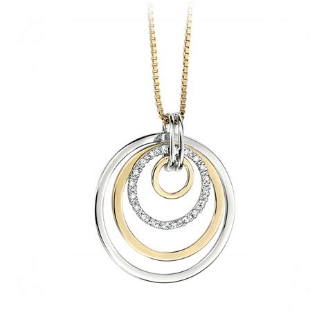 yellow gold and white gold necklace