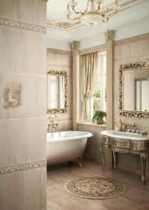 Charmant Salle De Bain Baroque #1: salle-bain-travertin-beige-mobilier-bois-dor%C3%A9-esprit-baroque.jpg