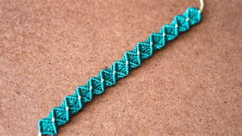 como hacer pulseras de macrame nudo plano pulsera macrame nudo plano pulseras de hilo youtube