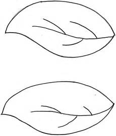 template leaves leaf drawing template clipart best