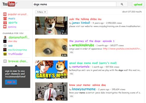 Youtube Doge Meme - search quot doge meme quot on youtube and get that font