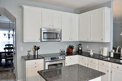 white cabinets grey countertops kitchen reno