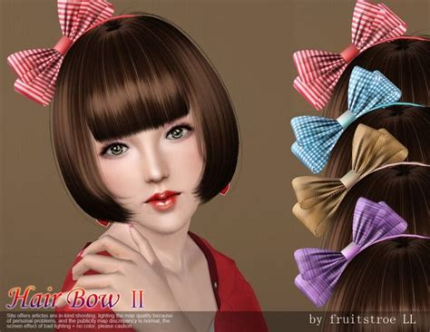 my sims 4 blog hair bow by karzalee my sims 3 blog hair bow ii by ll