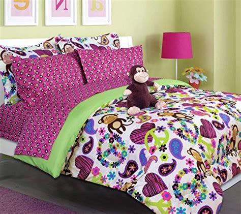 tween bedding set girls kids bedding fabian monkey tween teen dream bed in a bag twin size comforter