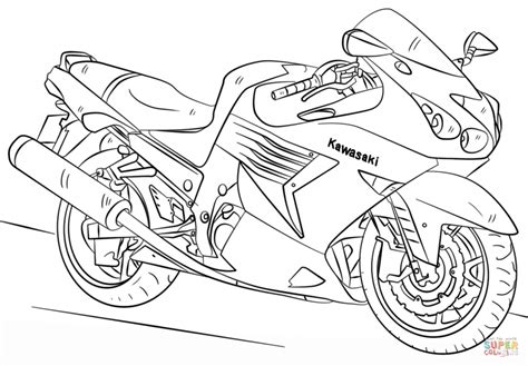 kawasaki ninja coloring pages motorcycle coloring pages coloring page cartoon