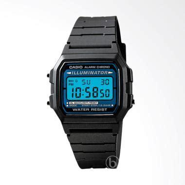 Jam Tangan Casio Pria W 212h 1avdf Black Silver Original Digital Keren jual casio backlight sporty jam tangan pria black f 105w 1avdf el harga kualitas