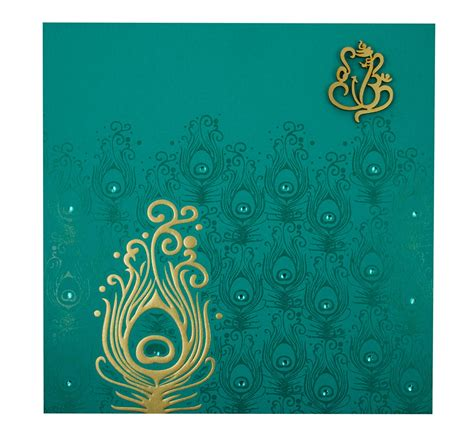 design indian wedding invitation card online free hindu marriage invitation card in turquoise blue peacock