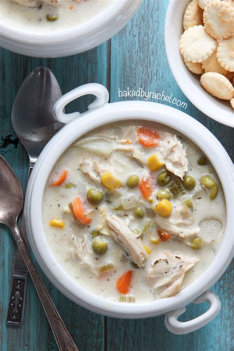 slow cooker chicken pie soup baked by rachel