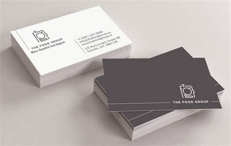 best for business best modern business card design for the food