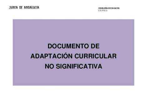 Modelo Adaptacion Curricular Significativa Ingles modelo aci no significativa