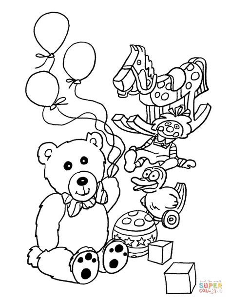 toys coloring page free printable coloring pages