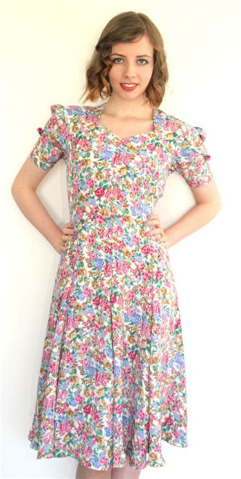 House Dresses by Vintage 1950s Floral House Dress 10 By Revolutionretro