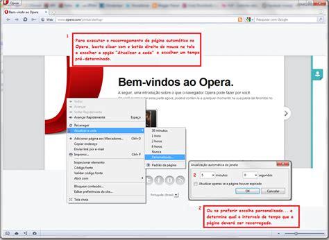 Opera Auto Refresh by Infofutil Atualizar P 225 Gina Automaticamente F5 Refresh