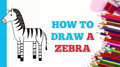 zebra pattern how to draw how to draw a zebra in a few easy steps drawing tutorial