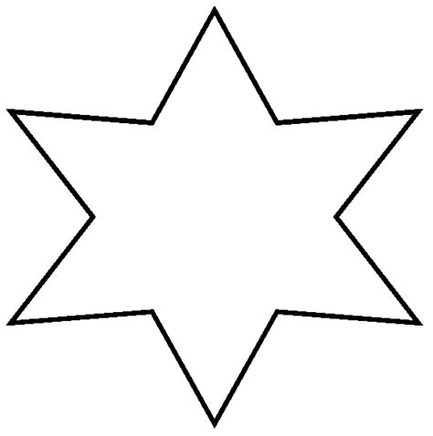 large star template printable clipart best
