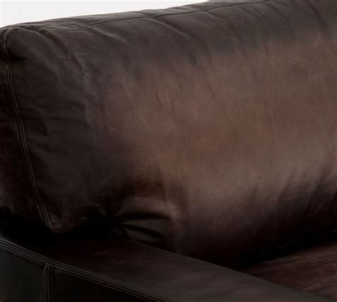 rolled arm leather turner roll arm leather armchair pottery barn