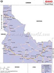 map of idaho idaho road map http www mapsofworld