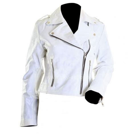 white motorbike jacket brando white ladies rider motorcycle leather jacket