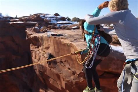how to convince your wife to swing man pushes girlfriend off cliff in 400ft canyon rope swing