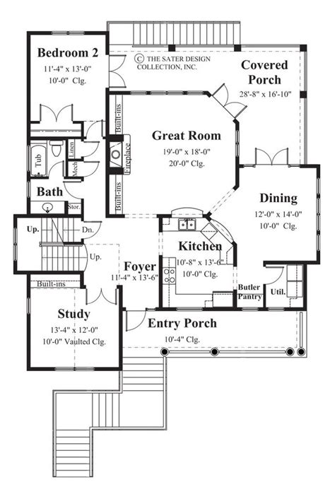 Home Plan Carmel Bay Sater Design Collection Bay House Plans