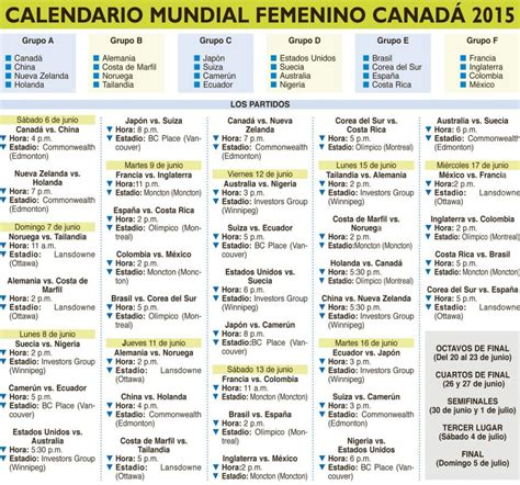 Calendario Mundial Femenino 2015 Search Results For Calendario Mundial Canada 2015