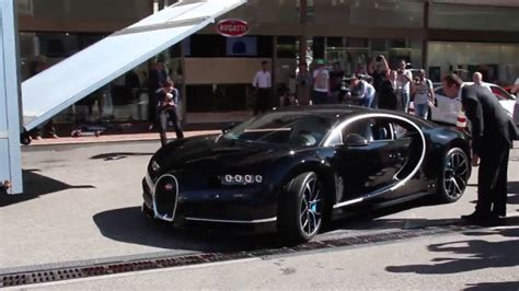 bugatti dealership a bugatti chiron arrive in style to monaco