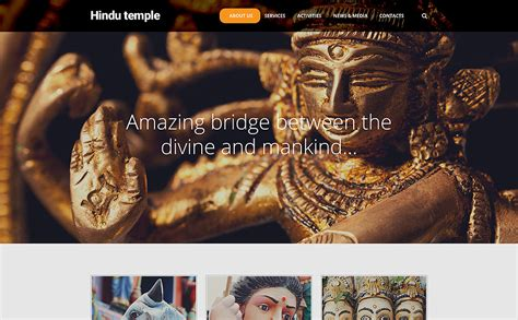 bootstrap templates for hindu temples hindu temple website template