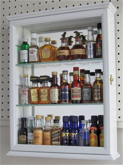 Mini Liquor Bottle Display Case