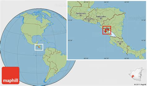 nicaragua location on world map savanna style location map of managua