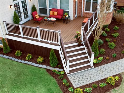 Outside Deck Ideas by Accessing Your Deck Outdoor Design Landscaping Ideas
