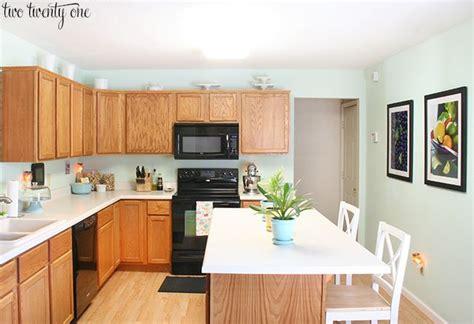 Honey Oak Kitchen Cabinets by Best 25 Light Blue Kitchens Ideas On Light
