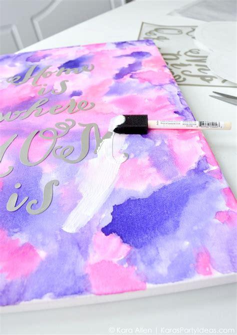 watercolor pattern diy kara s party ideas celebrate mom diy watercolor mother s