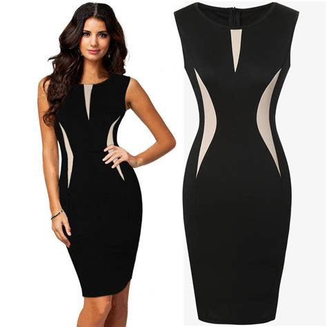 corporate dress up womens cool beautiful ladies formal party pencil dress